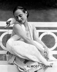 Anna Pavlova and jack the swan