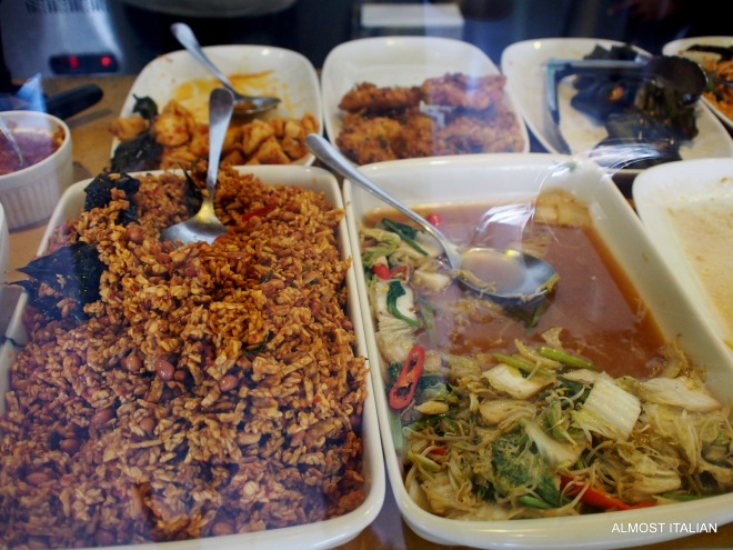 Hard to choose your nasi campur sides.