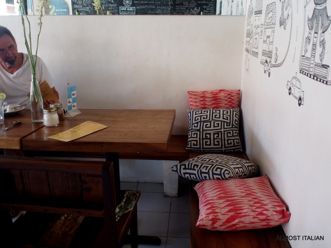 corner table at Warung Santai