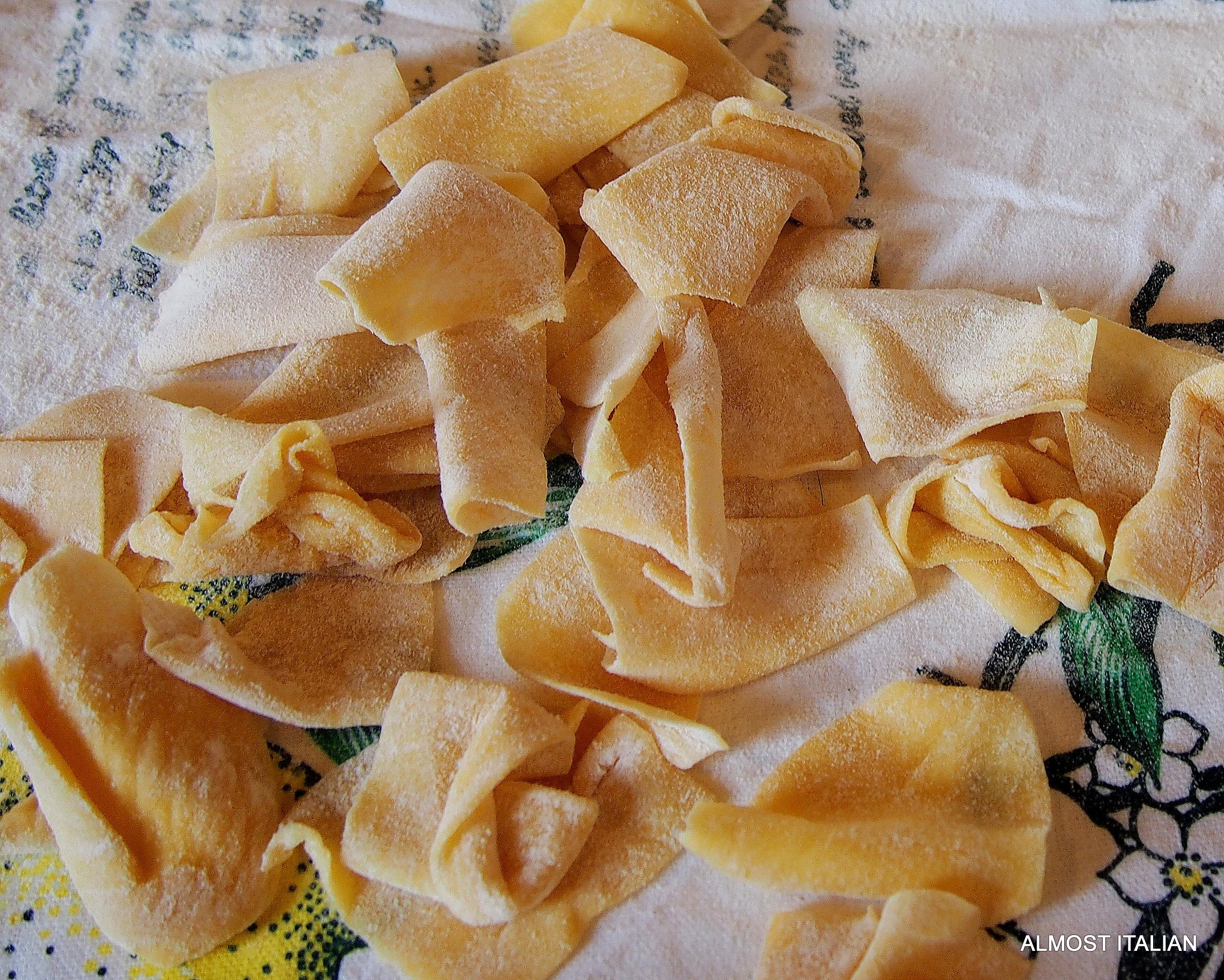 Cenci or rag Pasta