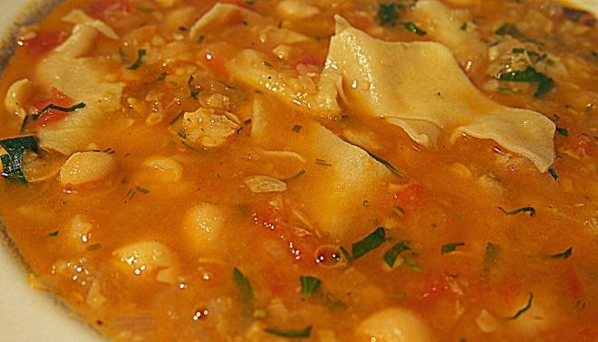 Zuppa di Ceci con Maltagliata