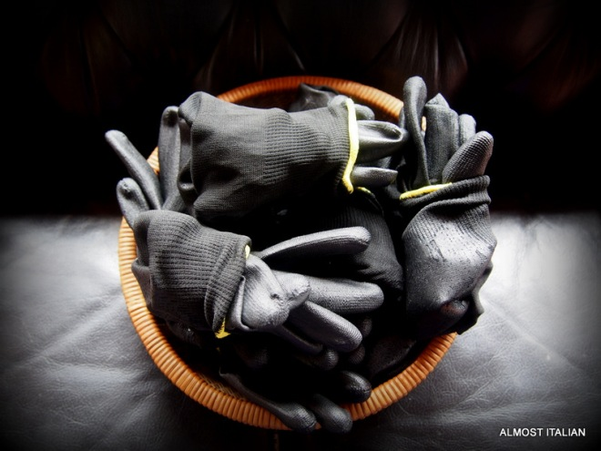 A big supply of alibaba gloves.