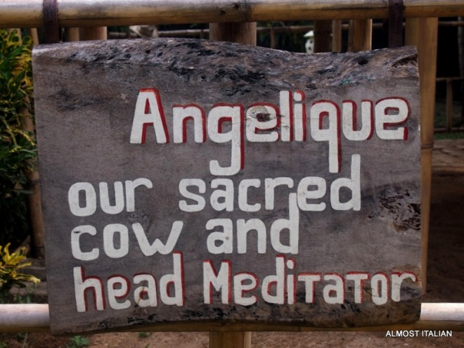 A sign outside of a Yoga School in Sanur, Bali