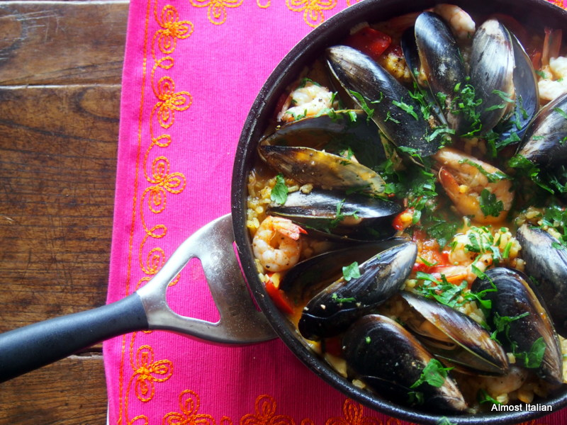 Simple Seafood Paella