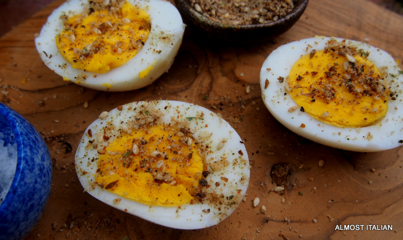 Eggs with Dukkah. The Perfect Lunch