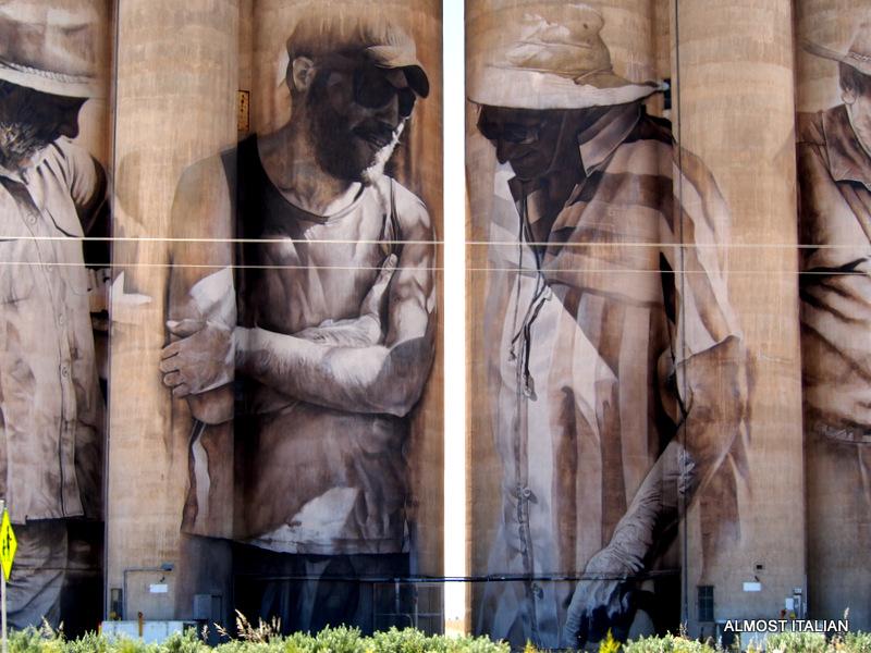 Famous painted silos, Brim, the Wimmera, Victoria, Australia