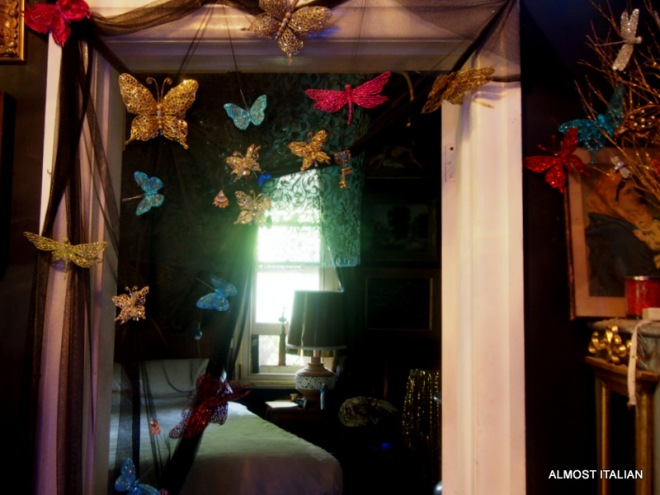 Through a veil of butterflies, sleep calls at any time of the day.