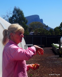 Michelle, Head Gardener and designer of the Kitchen Garden Dunkeld.