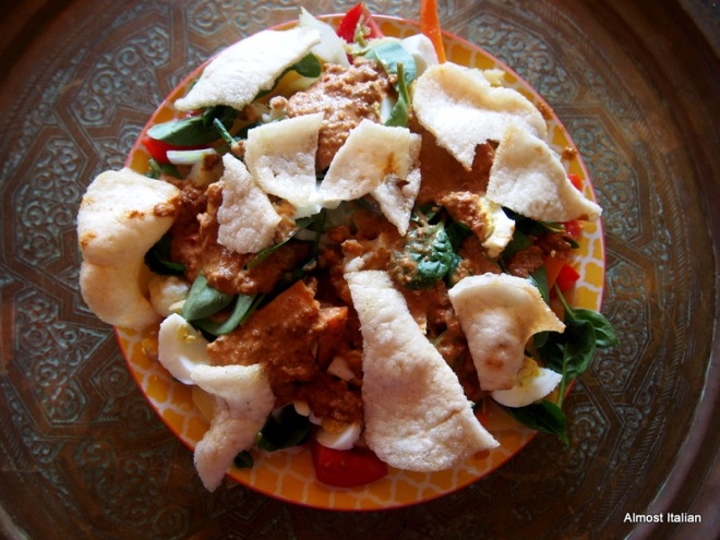 My gado gado- using vegetables mon hand