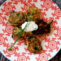 Herb, Spring Onion and Zucchini Fritters