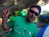 The birthday boy in Irish yoga t-shirt