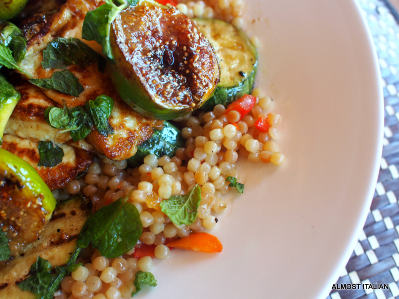 Pearl Couscous, Halloumi and Fig Salad