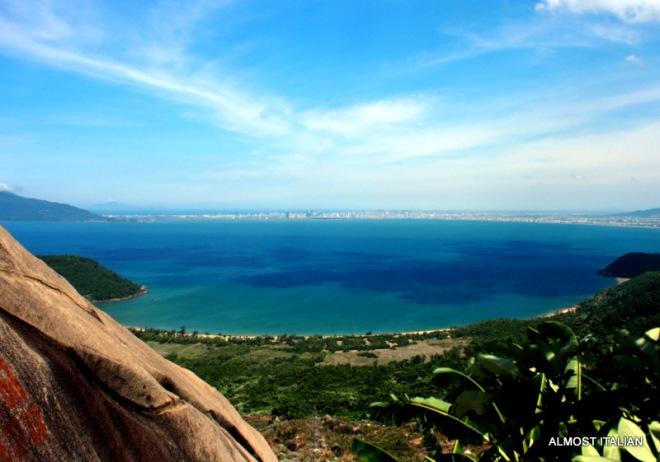 Views looking back to Danang from Hải Vân Pass