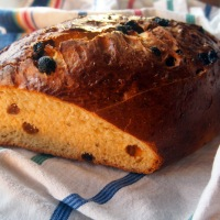 Sourdough Buccellato. Fruit Bread from Lucca