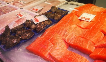 Fresh fish stall, Brunswick Market.