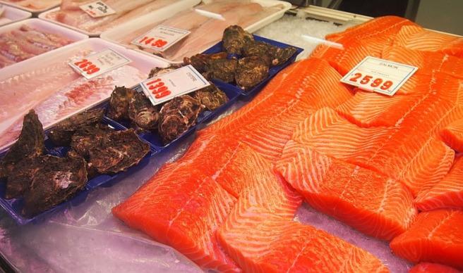 Fresh fish stall, Brunswick Market.