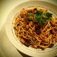 Aldo's Spaghetti alla Puttanesca with Pesce Spada
