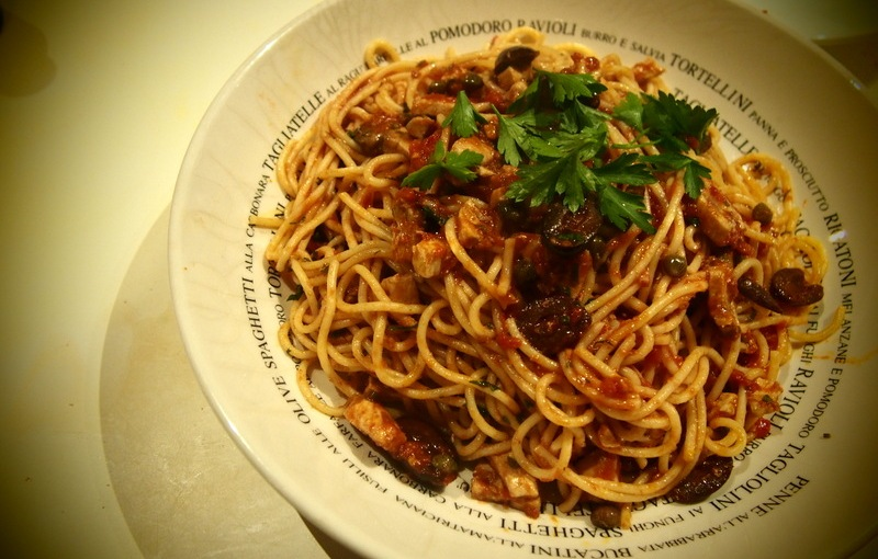 Aldo's Spaghetti alla Puttanesca with PesceSpada