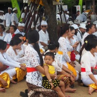 Balinese Memukur. Water Purification Ceremony by the Sea