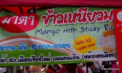 Mango sticky rice is poular with the locals