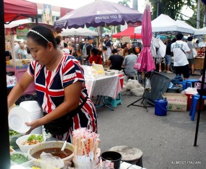 Food stalls at sunday walking market