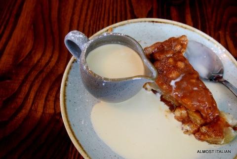 Toffee apple pie, Robinson's Hotel, Dolgellau.