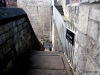 Exiting York's wall