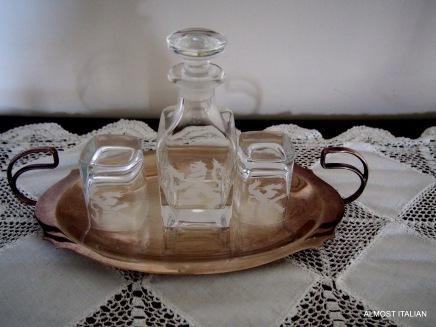 A scottish whisky decanter set.