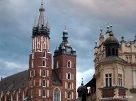 One corner of the market square, Krakow