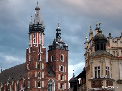 One corner of the market square, Krakow