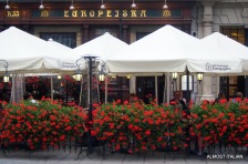 restaurants line the vast square, Krakow