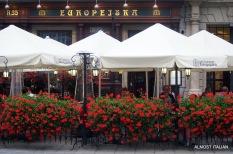restaurants line the vast square, Krakow