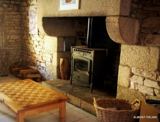 Stone hearth with ample wood. Wall heaters in every room.