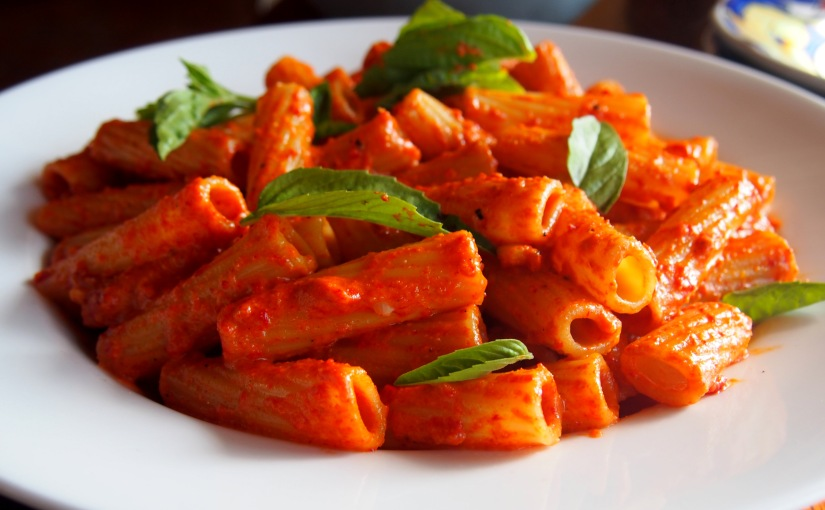 Maccheroni Rigati with Sweet Pepper Sauce