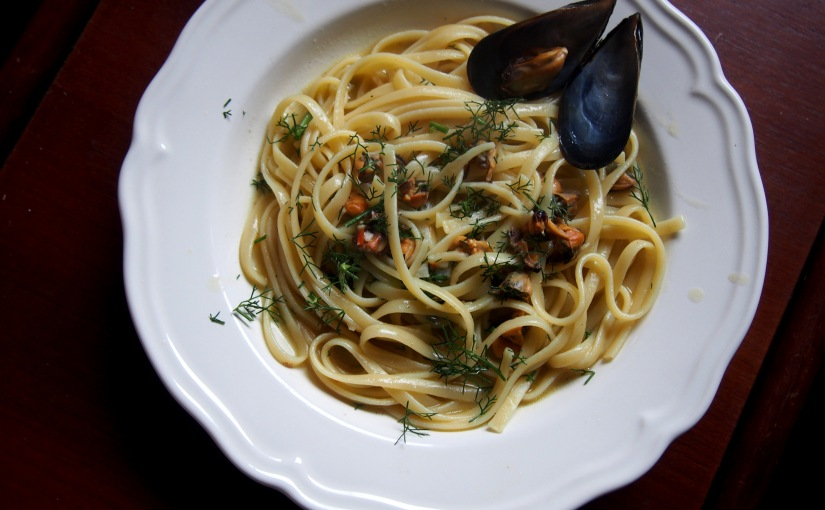 Linguini with Mussels and Wild Fennel