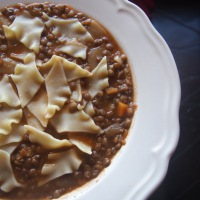 Pantacce, the Wonder Pasta and Lentil Soup