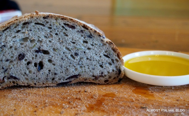Yeasted olive and rosemary bread