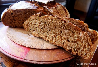 Dark rye, studded with fennel and Anise seed.
