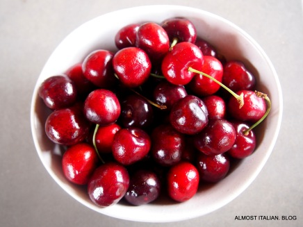Cherries in season. My cherries were all eaten by the birds.