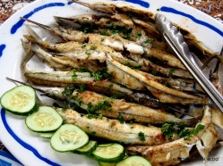 Local garfish, simply sauteed, then sauced a la meunière with butter parsley and lemon'