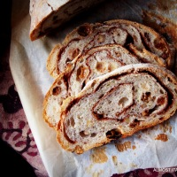 Artisan Bread. Sourdough Cinnamon Raisin Swirl