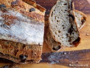 Lovely black olive and rosemary sourdough