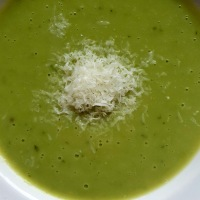 The Best Broad Bean Soup, with grated outrage on the side?