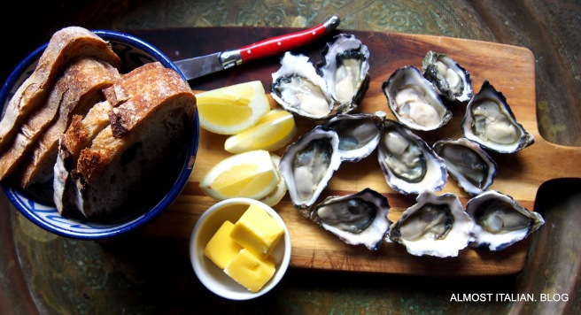 Sydney rocks, sourdough butter lemons