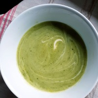 The Greenest Zucchini Soup