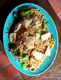 Hokkien noodles, tofu, bokchoy, well sauced.